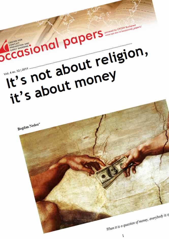 nr.12 / vol. 4 – It's not about religion, it's about money