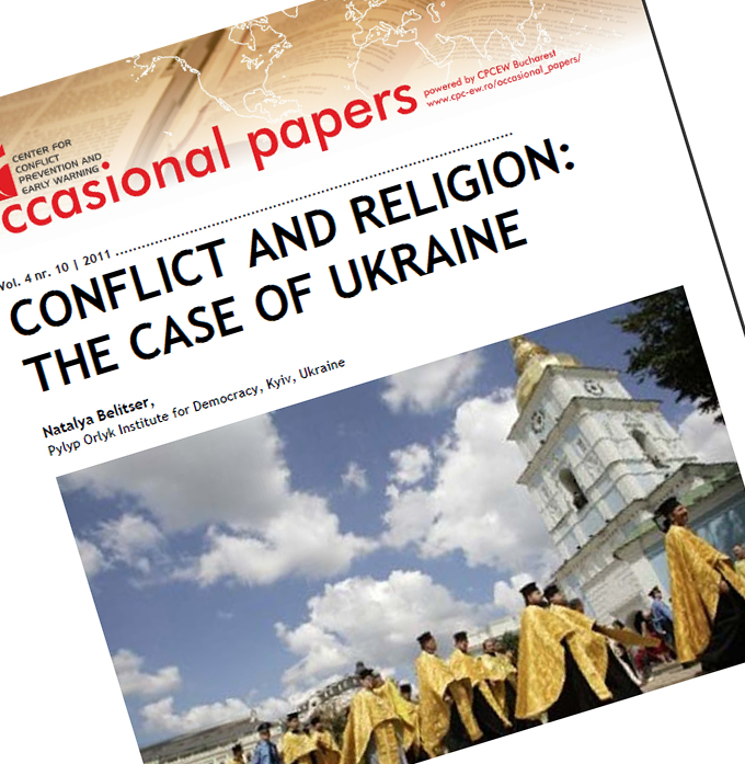 nr.10 / vol. 4 – Conflict And Religion: The Case Of Ukraine